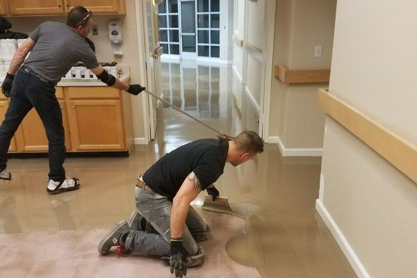 Day Care Center Is The First To Have New Cll Liquid Lino Flooring